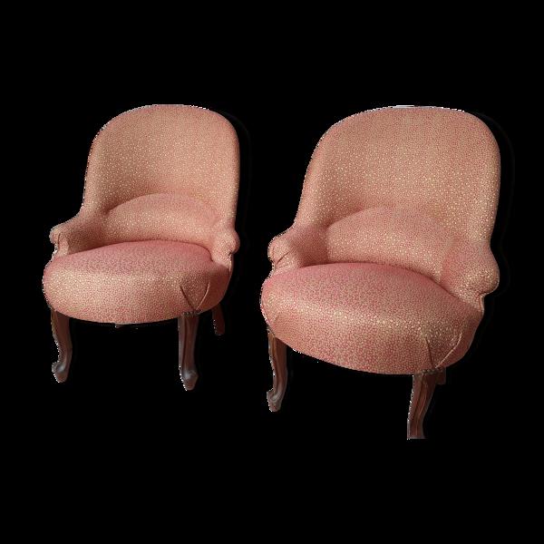 Paire de fauteuils crapauds
