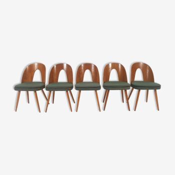 Chaises à manger par Antonín Šuman années 1960 Ensemble de 5
