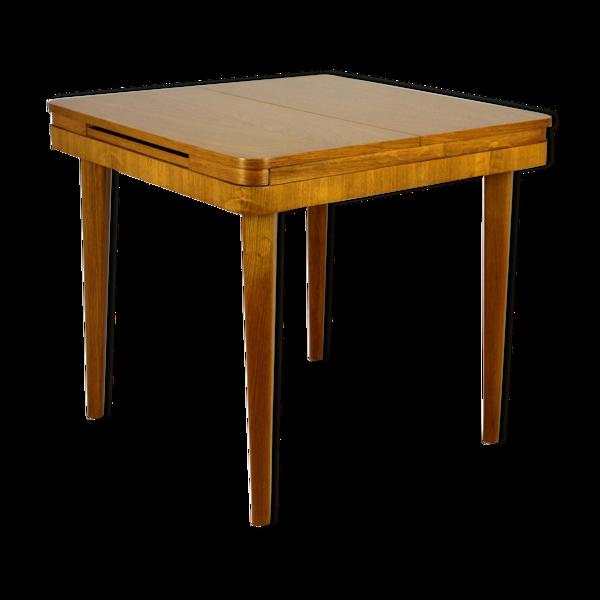 Selency Table pliante plaquée chêne carré de Jitona, années 1960