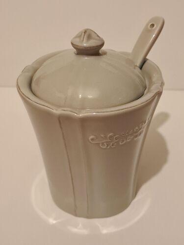 Sugar potter earthenware Amadeus décor gray heart
