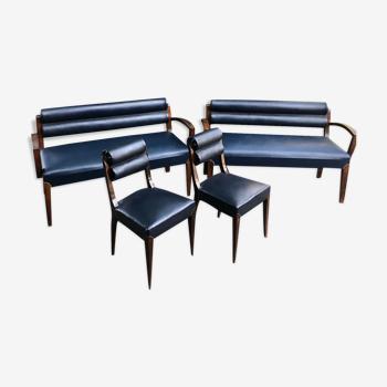 Canapé et fauteuils art deco