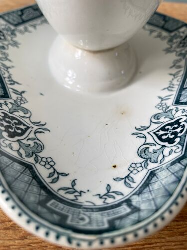 Saucière ancienne XIXème Saint Amand & Hamage, modèle Maroc