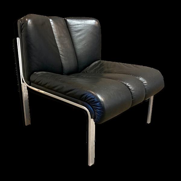 Fauteuil cuir design 1960