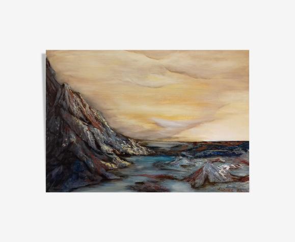Tableau huile sur bois 50 x 70 cm