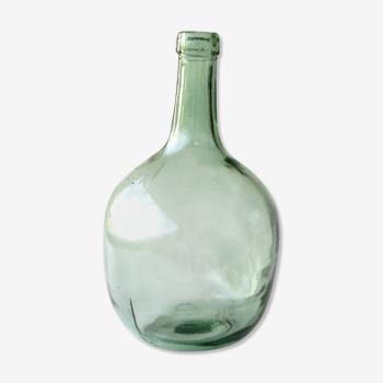 Dame jeanne 5L verte - ancienne bonbonne verre