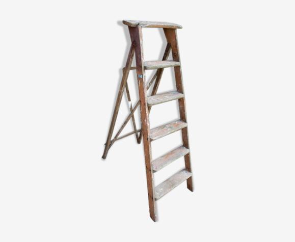 Echelle en bois decorative 139 cm