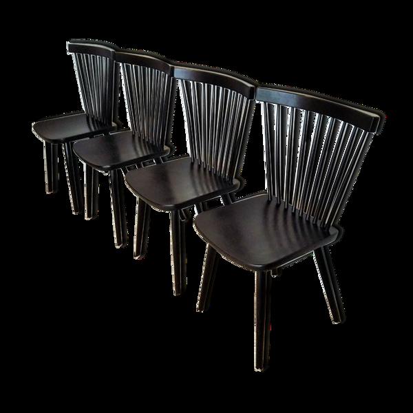 Selency Suite de 4 chaises à barreaux Stol Kamnik