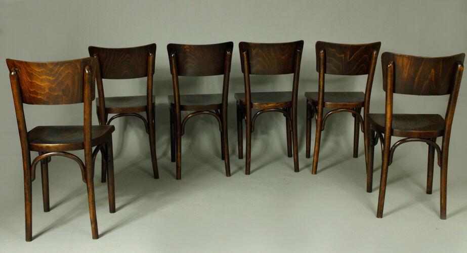 Ensemble de 6 chaises thonet, années 1930