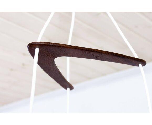 """Lustre à suspension """"boomerang"""" années 60"""