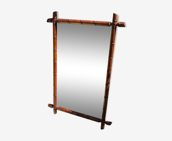 Miroir en bambou vintage 108x72cm