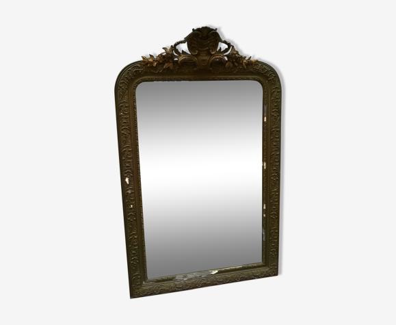 Miroir ancien a fronton - 133x83cm