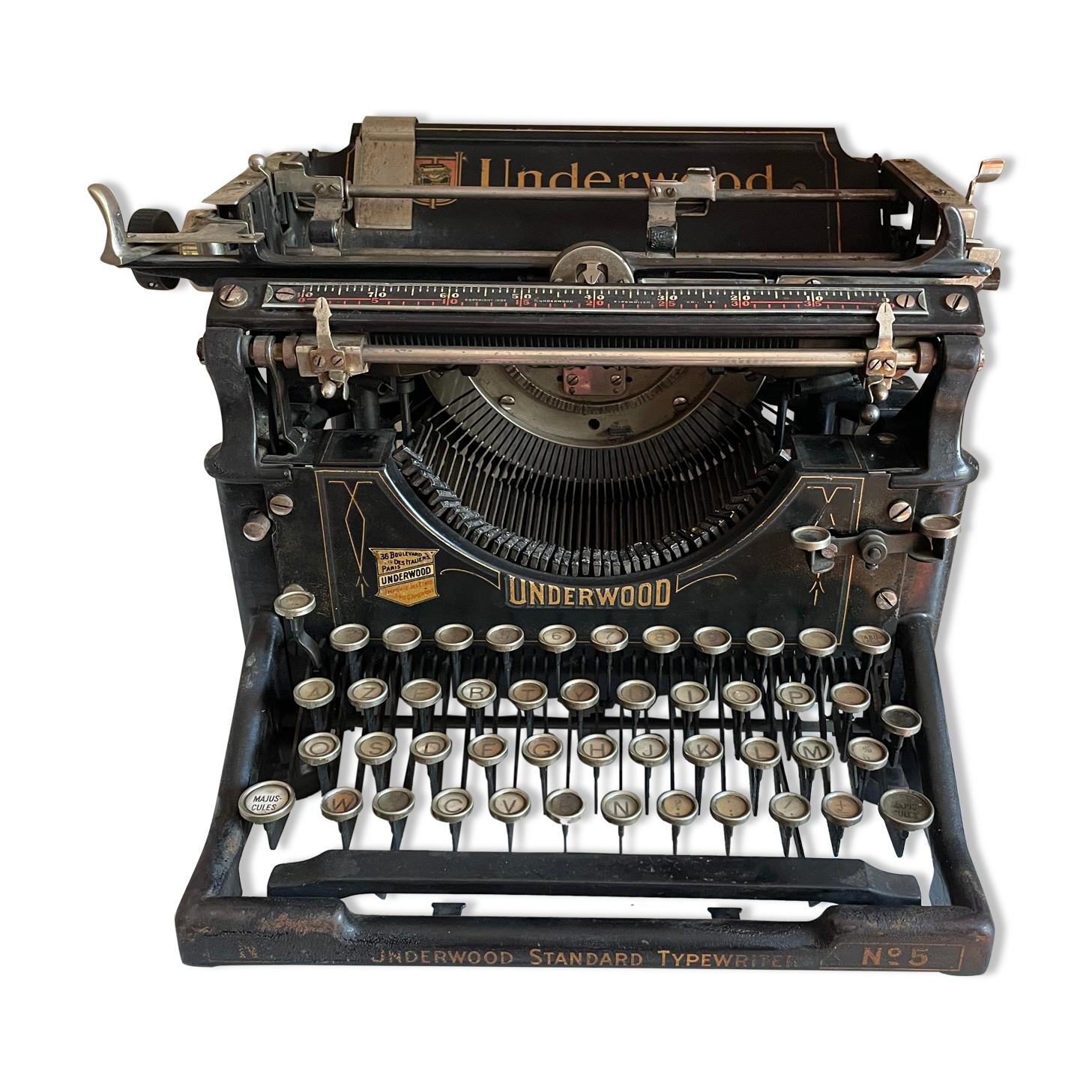 Machine à écrire underwood années 20