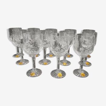 12 verres cristal Les Grands Ducs
