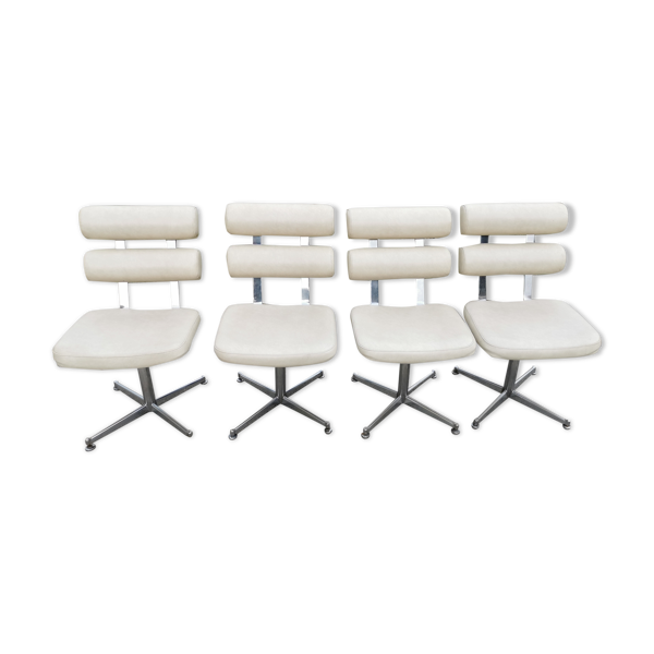 Lot de 4 chaises loundge design
