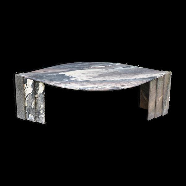 Selency Table basse en marbre des années 70