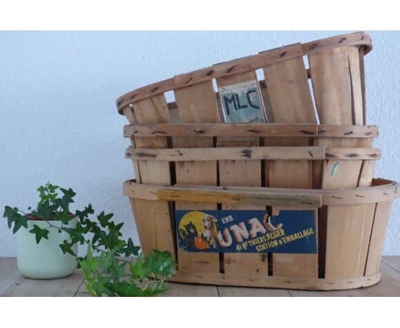 Cagettes fruits & légumes vintage en bois