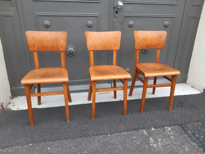 Chaises bistrot thonet vintage 1950s