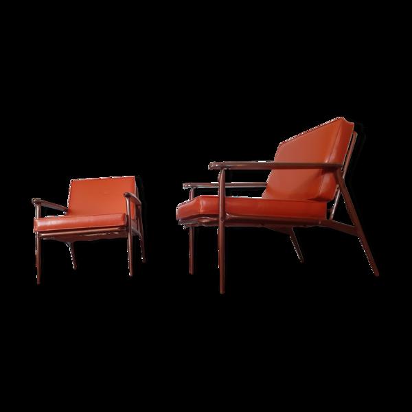Selency Paire de fauteuils année 50 vintage Marque  Métalcraft